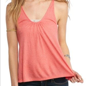 NWT Free People Wear Me Now Tank in Coral.